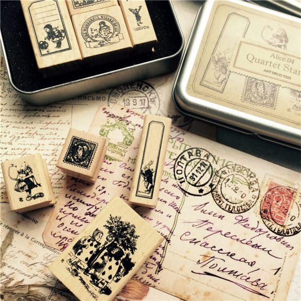 1 13 600x600 - Wooden Stamps - Alice in the Wonderlands (8 designs)