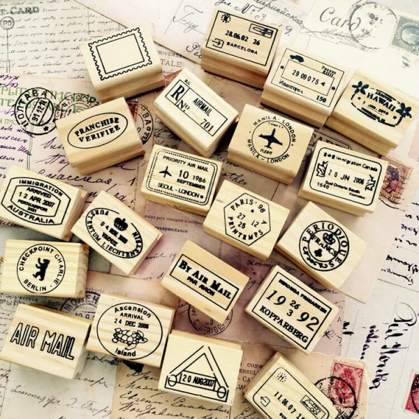1 15 600x600 - Wooden Stamps - Postmarks (24 designs)