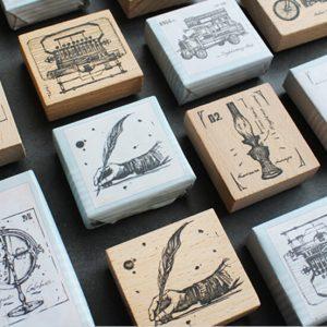 wooden planner stamp