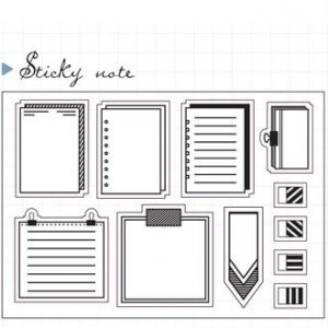 planner art journaling acrylic stamp stationery Malaysia