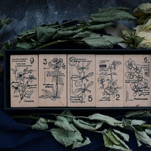 Yowoo 用物 Wooden Vintage Rubber Stamps Malaysia