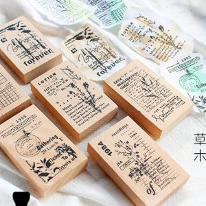 Planner Wooden Stamps Malaysia
