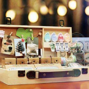 Wooden Stationery Storage Box Malaysia
