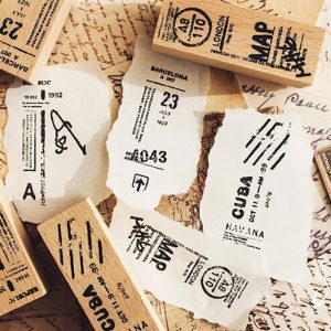 Wooden Rubber Stamps Planner Malaysia